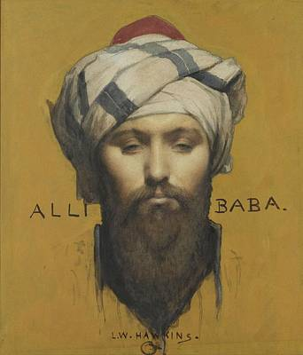 Baba Painting - French Alli Baba by Eastern Accent