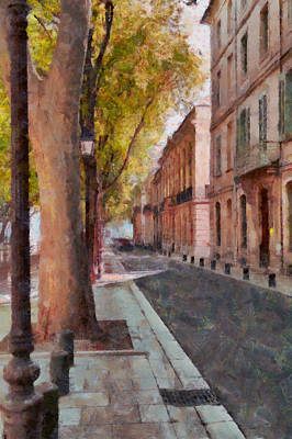 French Boulevard Print by Scott Carruthers