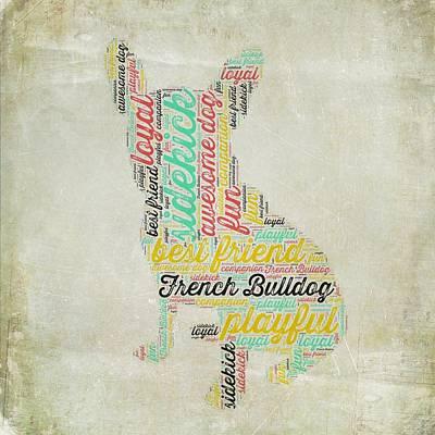 Must Art Mixed Media - French Bulldog by Brandi Fitzgerald
