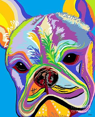 Funky Painting - French Bulldog by Eloise Schneider