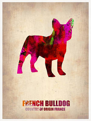 Funny Dog Painting - French Bulldog Poster by Naxart Studio