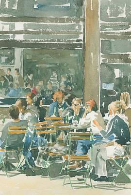 French Cafe Scene  Print by Ian Osborne