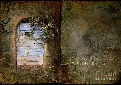 French Door In Provence Print by Elizabetha Fox