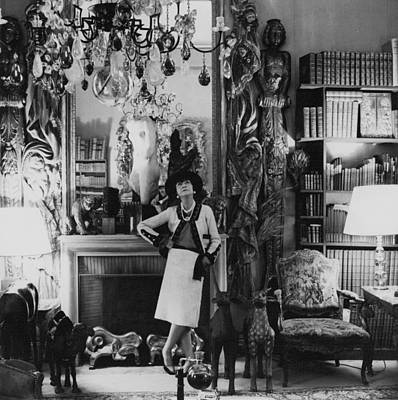 Designer Photograph - French Fashion Designer, Coco Chanel by Conde Nast