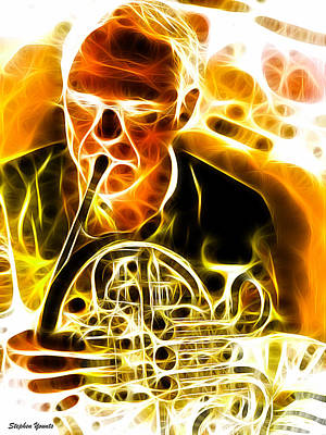 French Horn Print by Stephen Younts