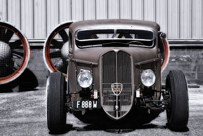 Modified Photograph - French Hot Rod by Joachim G Pinkawa