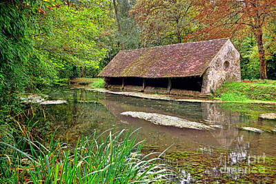 Stone Buildings Photograph - French Lavoir by Olivier Le Queinec
