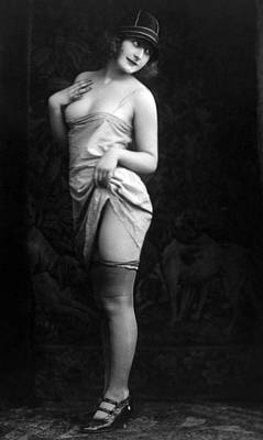 1920s Fashion Photograph - French Lingerie Model, Circa 1920 by Everett