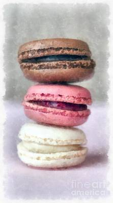 Cookies Digital Art - French Macaron Pastry by Edward Fielding