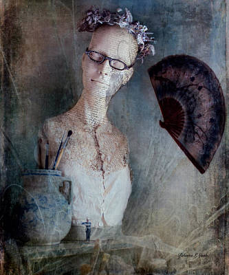 Blouse Mixed Media - French Mannequin Bust Still Life by Bellesouth Studio