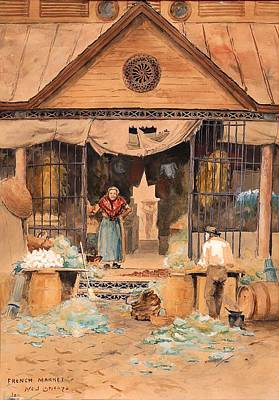 Store Fronts Painting - French Market - New Orleans by Mountain Dreams
