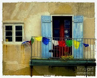 South Louisiana Photograph - French Quarter Balcony - Polaroid Transfer by Kathleen K Parker