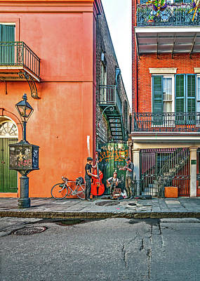 French Quarter Trio Print by Steve Harrington