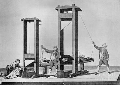 French Revolution, Guillotine, 18th Print by Science Source