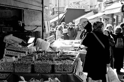 French Street Market Print by Sebastian Musial