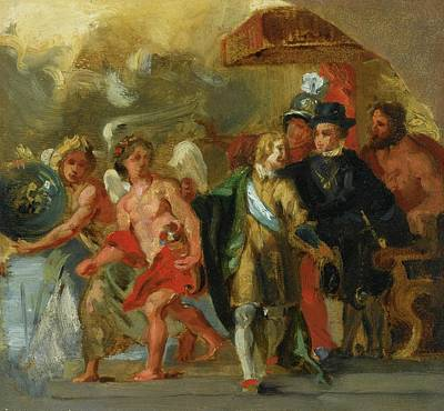 French The Stage Of Archduchess Print by Delacroix