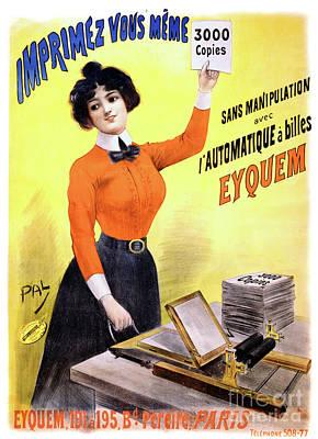 French Vintage Advertising Poster Restored Print by Carsten Reisinger