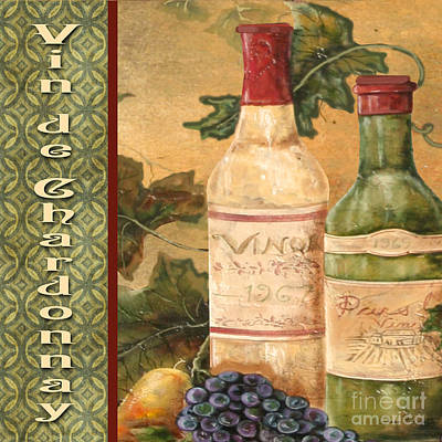 French Wine-jp3097 Print by Jean Plout