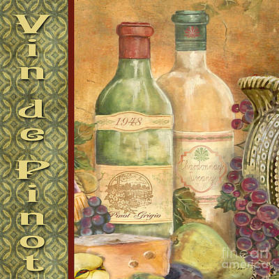 French Wine-jp3098 Print by Jean Plout