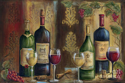 Bottle Of Wine Painting - French Wine Tasting by Marilyn Dunlap