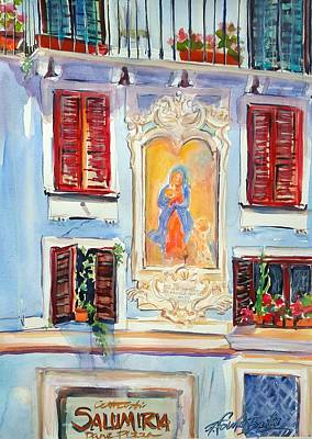 Painting - Fresco Di Amica Mea Et Macula Roma Italia by Therese Fowler-Bailey