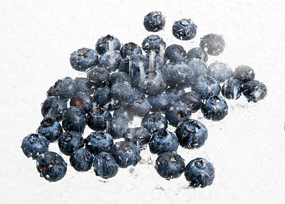 Light Lunch Photograph - Fresh Blueberries by Jim DeLillo