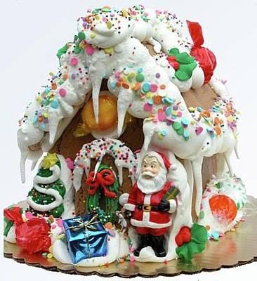 Fresh Gingerbread House Original by Shirley Sykes Bracken
