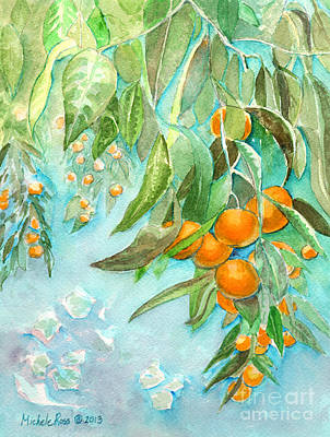 Tangerine Painting - Fresh Juice by Michele Ross