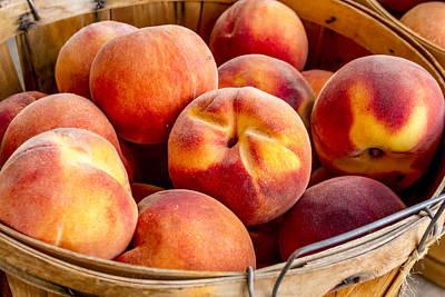 Locally Grown Photograph - Fresh Peaches by Teri Virbickis