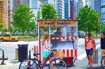 Red Painting - Fresh Popcorn by Lanjee Chee