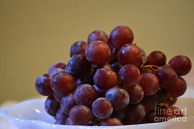 Fresh Red Grapes  Print by Ruth Housley