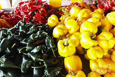 Fresh Sweet And Hot Peppers Print by Thomas Marchessault