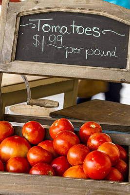 Locally Grown Photograph - Fresh The Garden Tomatoes by Teri Virbickis