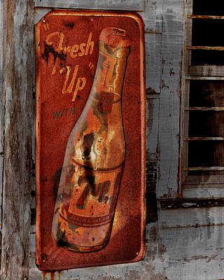 7up Sign Photograph - Fresh Up With 7up by Kathy Krause