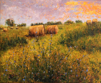 Bales Painting - Freshly Cut by Becky Christenson