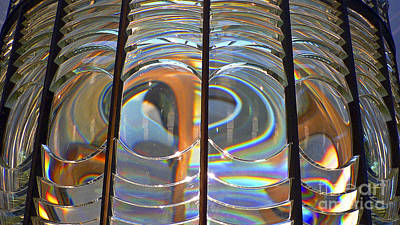 Fresnel Lens Print by Larry Keahey