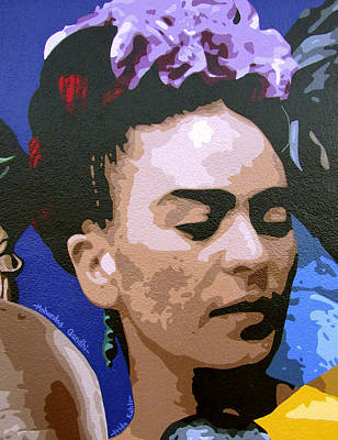 Frida Kahlo Original by Roberto Valdes Sanchez