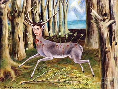 Pd Painting - Frida Kahlo Venadito by Pg Reproductions