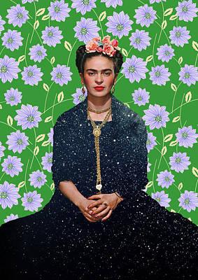 Frida Kahlo Print by Vitor Costa