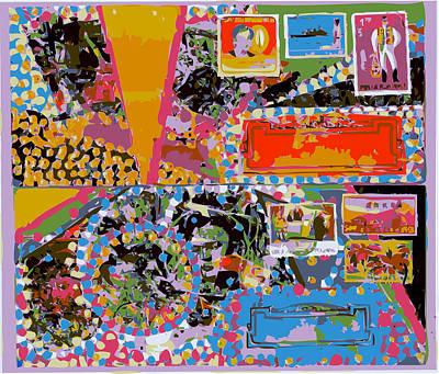 Xerox Art Mixed Media - Frida On Decorative Envelopes by F Burton