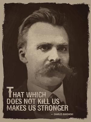 Friedrich Nietzsche Quote Print by Afterdarkness