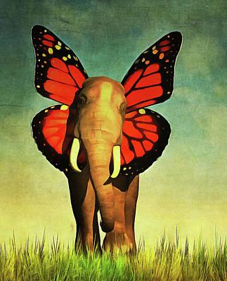 Africa Painting - Friendly Elephant by Jan Keteleer