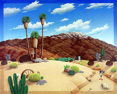 Roadrunner Painting - Friends In The Desert by Snake Jagger