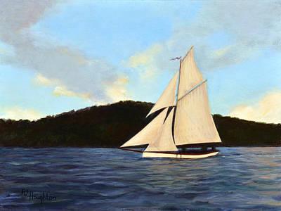 Penobscot Bay Painting - Friendship Sloop by RJ Houghton