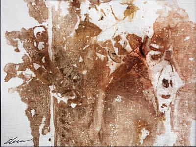 Abstracto Mixed Media - Fright by Elena Petrova Gancheva