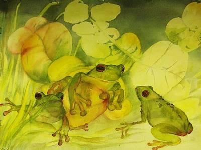Frogpond Original by Georgia Annwell