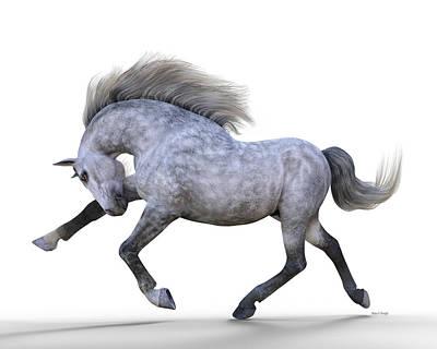 Stallion Digital Art - Frolic by Betsy Knapp