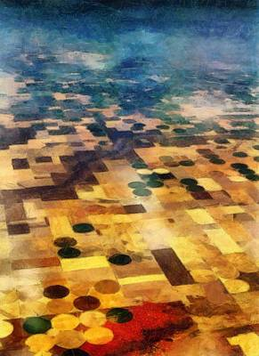 From Above Print by Michelle Calkins