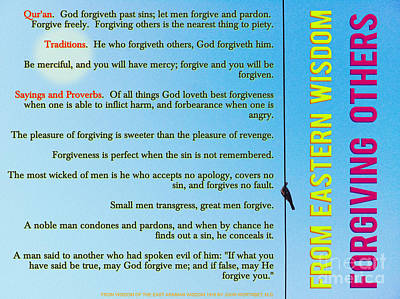 Wisdom Painting - From Eastern Wisdom - Forgiving Others by Celestial Images