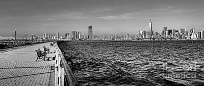 Downtown Area Photograph - From New Jersey by Olivier Le Queinec